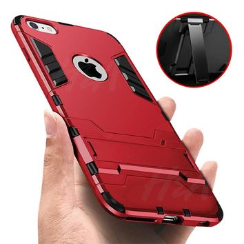 H&A Luxury 360 Armor Phone Case For iPhone X 7 8 6 6s Plus 5 5s SE Shockproof Hard Protective Cover For iPhone 7 8 Plus X Cases