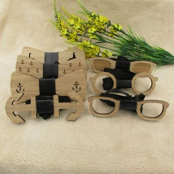 Hot Sales Fashion Wooden Bow Tie For Men