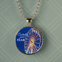 Divergent Ferris Wheel Tris and Tobias Charm Pendant Necklace