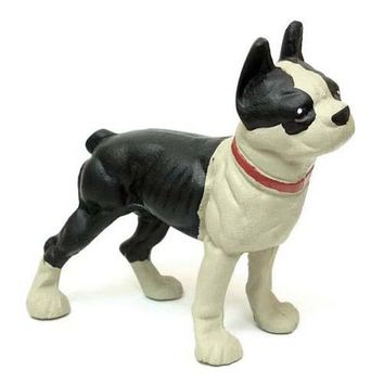 Cast Iron Door Stop Bulldog Boston Terrier Figurine