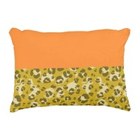 Mustard Leopard Print - Accent Pillow