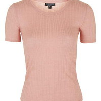 Ribbed Tee - Blush
