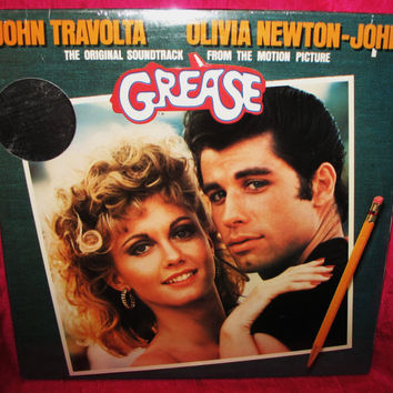 Amazing GREASE Soundtrack 2 Vinyl Records Set LP John Travolta Olivia Newton John  Sealed 1978