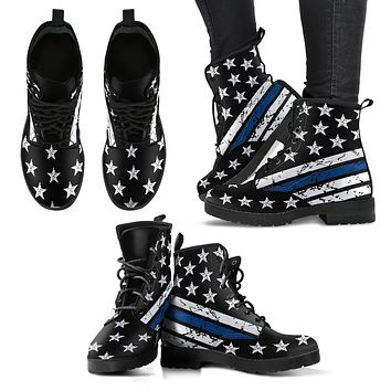 Thin Blue Line Handcrafted Boots Ladies Leather Boots
