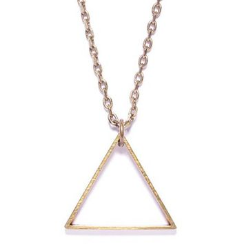 Triangle Necklace - Brass