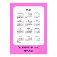 2016 Orchid Calendar by Janz 5x7 Magnet Magnetic Invitations