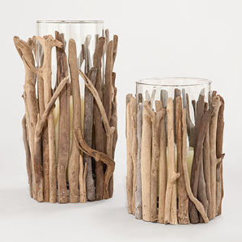 Twisted Driftwood Hurricane Candleholders | Candles and Candleholders| Home Decor | World Market