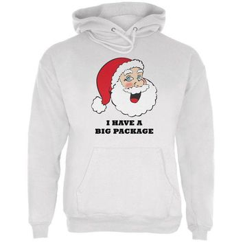 PEAPGQ9 Christmas Santa I Have a Big Package Funny Mens Hoodie