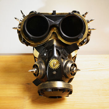 Steampunk Cyber Respirator Mask And Goggles