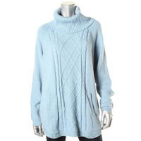 Charter Club Womens Knit Long Sleeves Pullover Sweater