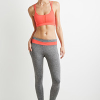 Heathered Colorblock Yoga Leggings