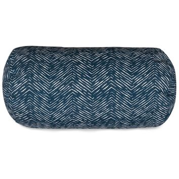 Navy Navajo Round Bolster Pillow
