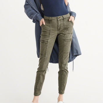 Womens Military Super Skinny Jeans   Womens New Arrivals   Abercrombie.com