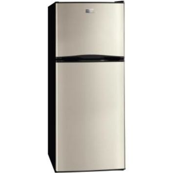 Frigidaire, 10 cu. ft. Top Freezer Refrigerator in Silver Mist, FFTR1022QM at The Home Depot - Mobile