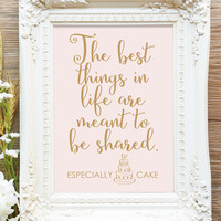 "The Best Things in Life ... Sign - 5x7 sign - Printable sign in ""Love Letter"" antique gold - PDF and JPG files - Instant Download"