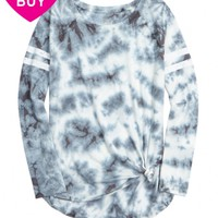 TYE DYE RAGLAN FOOTBALL TEE | GIRLS FASHION TOPS TOPS | SHOP JUSTICE