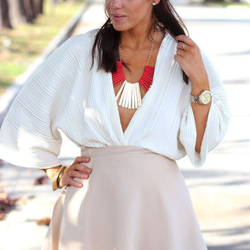 Neutral Nelly Wrap Skirt