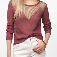 Sparkle & Fade Drop-Stitch Pullover Sweater