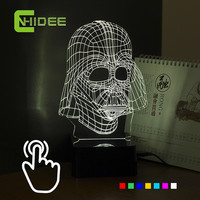 3D Visiual Darth Vader USB  Desk or Table Lamp