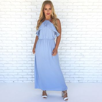 Emmy Maxi Dress in Blue