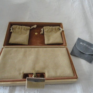 Vintage Tan Suede Travel Jewelry Case Jewelry Box Drawstring Pouches  Jewelry Storage Case