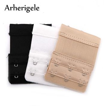 052f212a8c Arherigele 3Pcs Bra Strap Extender 2 Row 3 Hook Nylon Bra Extension Elastic  Adjustable Clasp Bar