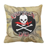 Captain Dad - Embraced by the Deep Throw Pillow
