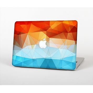 The Vector Abstract Shaped Blue-Orange Overlay Skin Set for the Apple MacBook Air 13""