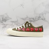Comme Des Garcons Play X Chuck 70 Low Top Multi Heart Cdg Sneakers - Best Online Sale