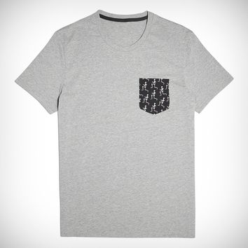 Mens Runaway Skeleton Pocket Tee