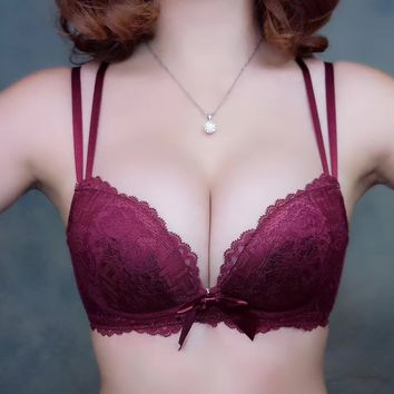 Bra Set Lace Sexy With Steel Wire Lingerie [11312699348]
