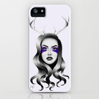 Deer Lilac iPhone & iPod Case by Nestor