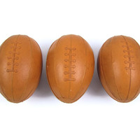 "Paper Pigskin - Victorian Football Candy Container, Papier Mache with Dresden Trim, Medium 3.5"", Fleur De Lis Paper Lining, Antique"
