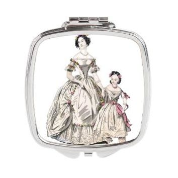 Vintage Antique Woman and Child Square Compact Mir> Vintage Antique Woman and Child> Pattern Designs