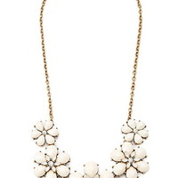 Faux Gem Floral Necklace