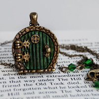 Bag End Hobbit Door Locket by EnchantedLeaves on Etsy