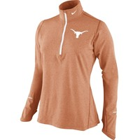 Nike Women's Texas Longhorns Heathered Burnt Orange Dri-FIT Element Half-Zip Shirt | DICK'S Sporting Goods