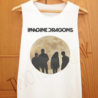Imagine Dragons Moon Style , Tank Top , Tank Shirt , Cute Tank , Fashion Tank , T Shirt , Women Shirt , Cothing , Women Tank Top