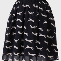 Chasing Foxes Printed Skirt By Kling