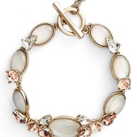 Women's Givenchy Stone Line Bracelet - Gold/ Mop/ Rose Peach/ Crystal
