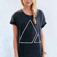 Vanguard Spliced Geo Boyfriend Tee- Black