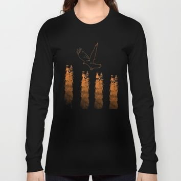 Crow Prey Long Sleeve T-shirt by ES Creative Designs