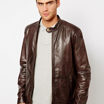 Ted Baker Leather Bomber Jacket