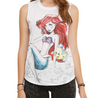 Disney The Little Mermaid Ariel Sketch Girls Muscle Top