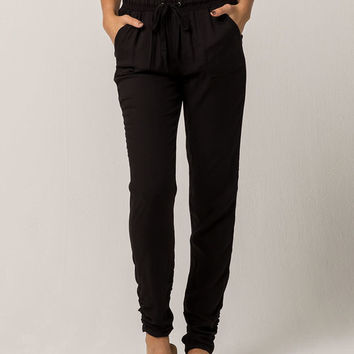 REWASH Black Womens Jogger Pants