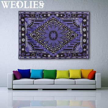 210x145cm Purple Sun Wall Hanging Tapestry Bohemian Throw Blanket Bedspread Dorm Cover Mat Home Room Wall Decoration