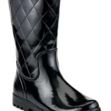 Sperry Top-Sider Nellie Quilted Rain Boot Black, Size 12M  Women's Shoes
