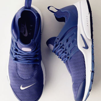 """NIKE""Air Presto Women Men Fashion Running Sport Casual Shoes Sneakers Dark blue B-AA-SDDSL-KHZHXMKH"