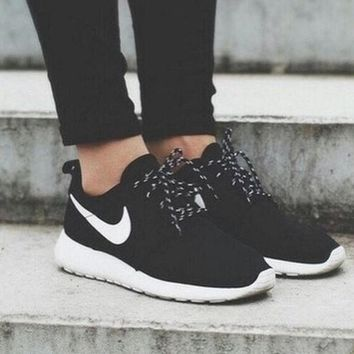 NIKE Roshe Classic Women Men roshe run Running Sport Casual Shoes Sneakers Black