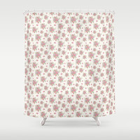 roses and peonies Shower Curtain by sylviacookphotography